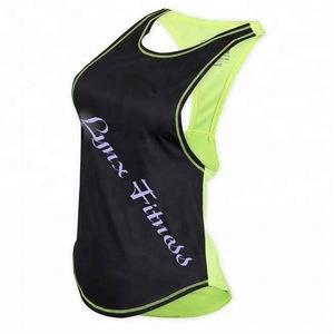 122ae0f0ce1b5 Women s Stringer Tank Top - Black Neon Lime Women s Stringer Vest