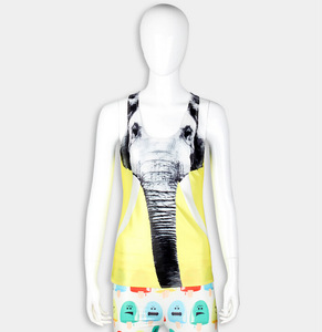 37cee47d7d610 Custom Dry Fit Sublimation elephant Printed Women Tank Tops Wholesale