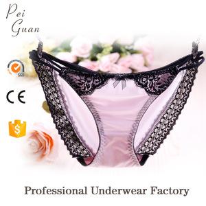 08c37d54b wholesale soft fashion sexy bikini satin girls G string panties for women