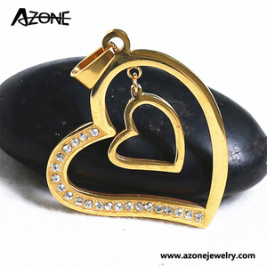7897116454e7 Azone fashion jewelry stainless steel necklace pendant heart shape owl  pendant for women for men