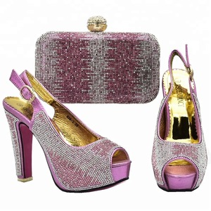7ad609c62a4d77 nigeria women wedding party shoes and matching bag set