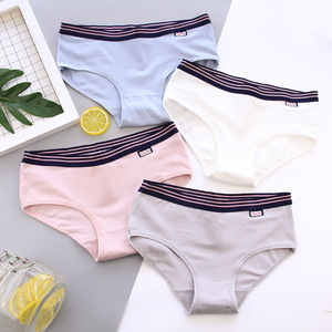 9656c382b Minimalism simple style soft pure color sport girl breath cotton underwear  women panty CSCM-H015