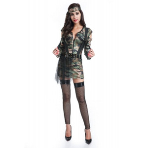 6a98652f4fc New wholesale sexy top gun ladies camouflage party costumes