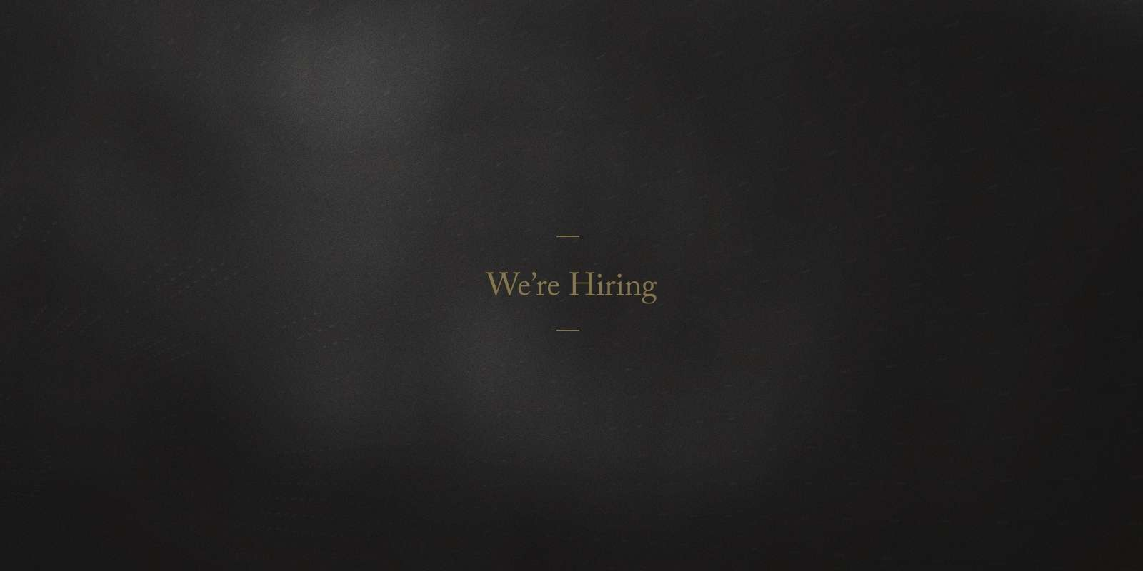 We're Hiring: Art Director Hero Image