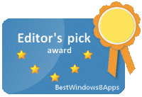 Windows 8 App Award from BestWindows8Apps