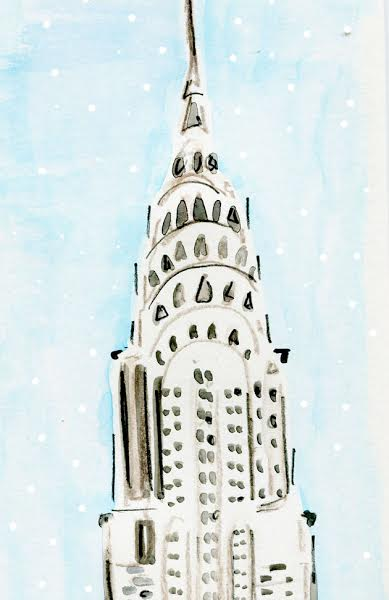 Chrysler Building in the snow