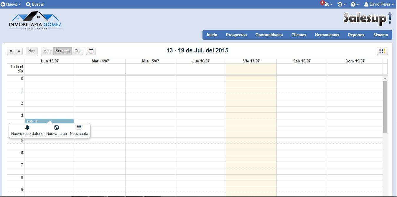 CRM SalesUp: Agenda