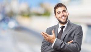 ejecutivo feliz