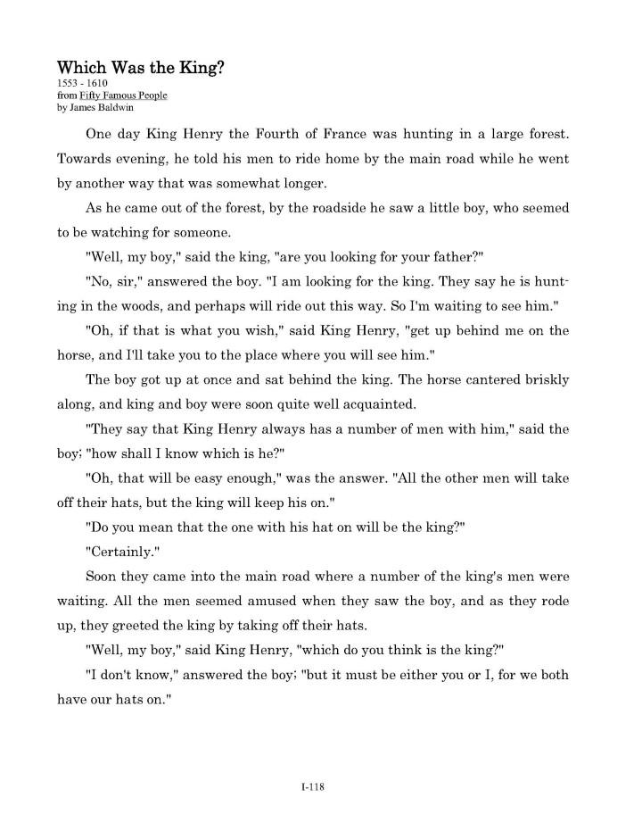 Level 1 Interior Page