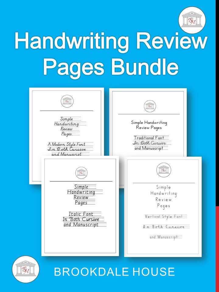 Handwriting Review Pages Bundle