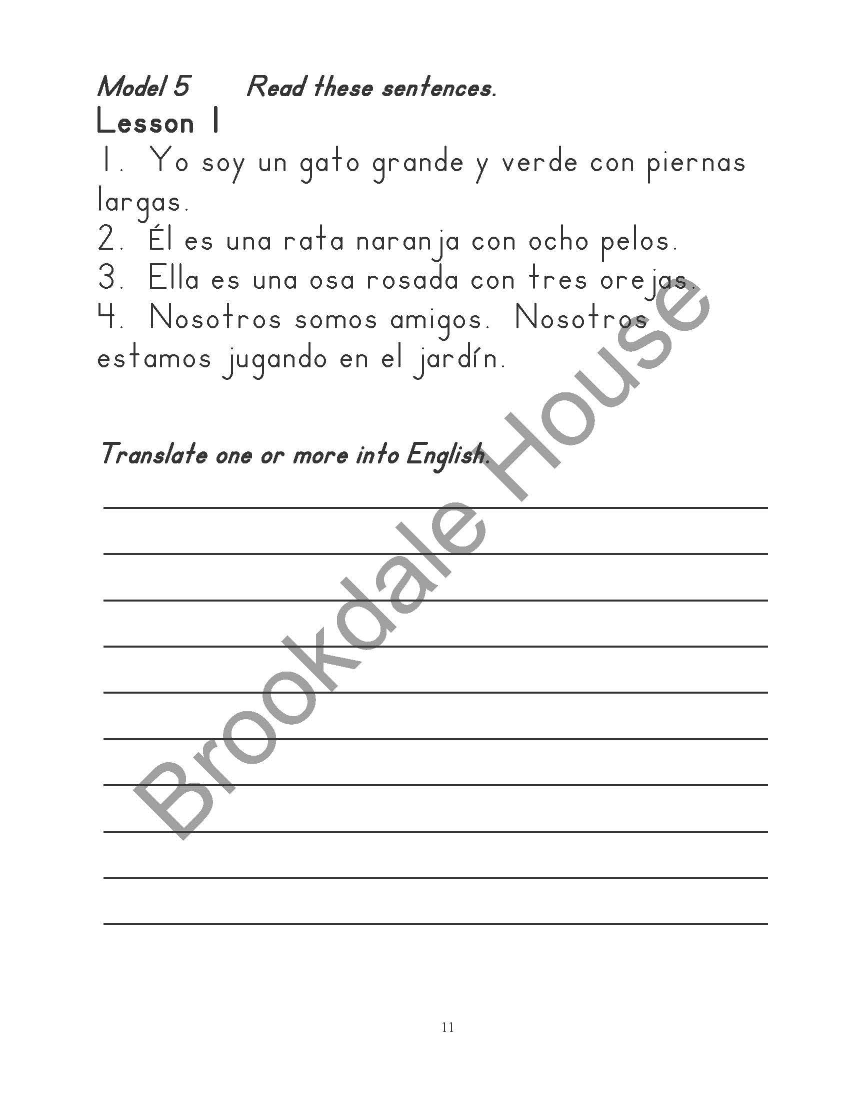 Fun Spanish Samples - Brookdale House
