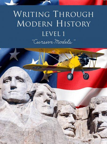 Writing Through Modern History Level 1 Cursive Models