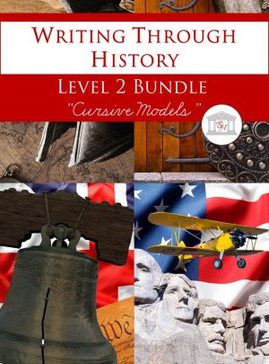 Writing Through History Level 2 Cursive Bundle