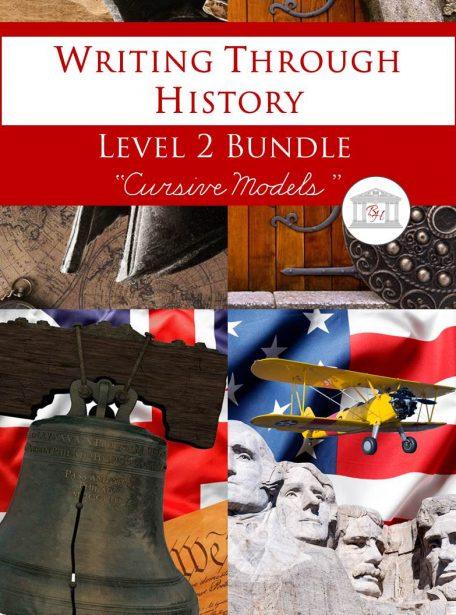 Writing Through History Level 2 Cursive Bundle