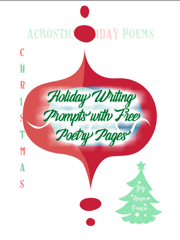 Holiday Writing Prompts with Free Poetry Pages