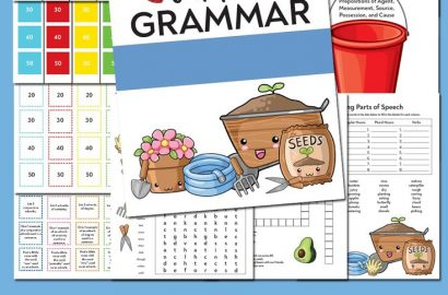 Grab this Free Garden Grammar Pack full of games, worksheets and other fun activities.