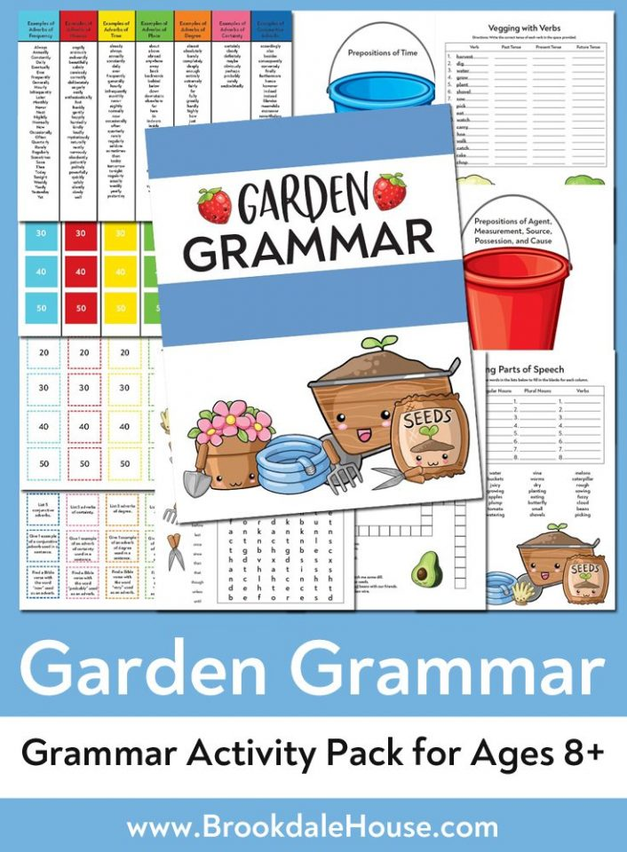 image about Westminster Shorter Catechism Printable titled Free of charge Backyard garden Grammar Printable Pack - Brookdale Area