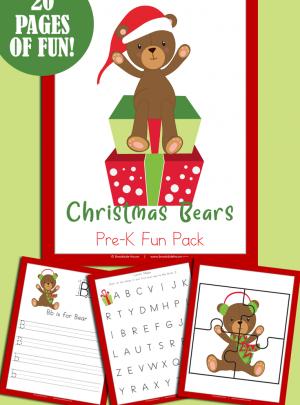 Christmas Bears Pre-K Fun Pack