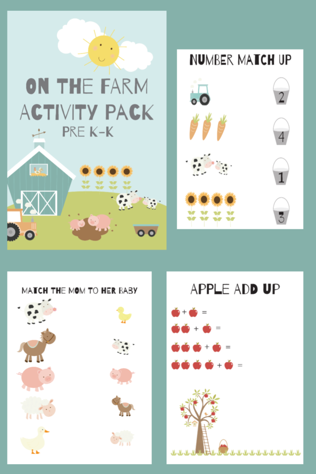 Free One the Farm Activity Pack