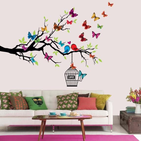 Kuş Kelebek Ağaç