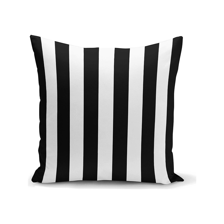 Siyah Beyaz Yastık Kırlent