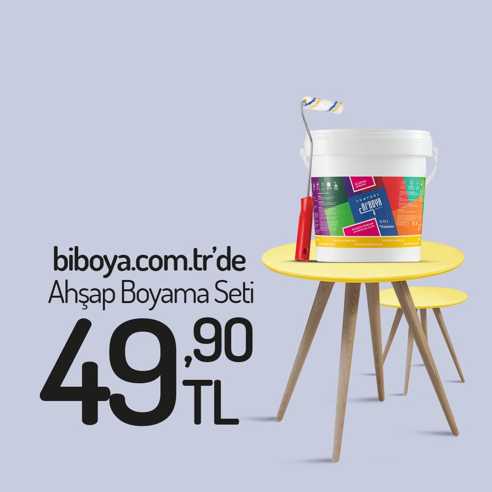 Lila Ahşap Boyama