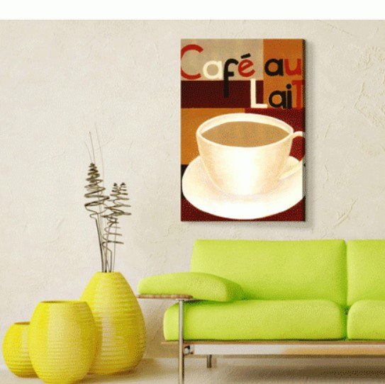 Cafe Au Lait Kanvas Tablo