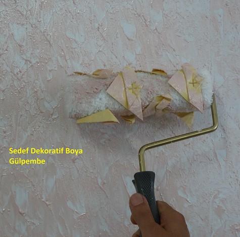 Dekor Deri Gül Efekt Rulosu 20 Cm Dekoratif Boyama