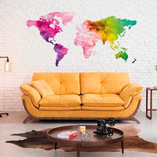 Dünya Haritası Renkli