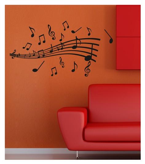 Muzik Notasi Kadife Duvar Sticker Ev Dekorasyon Fiyati Biboya