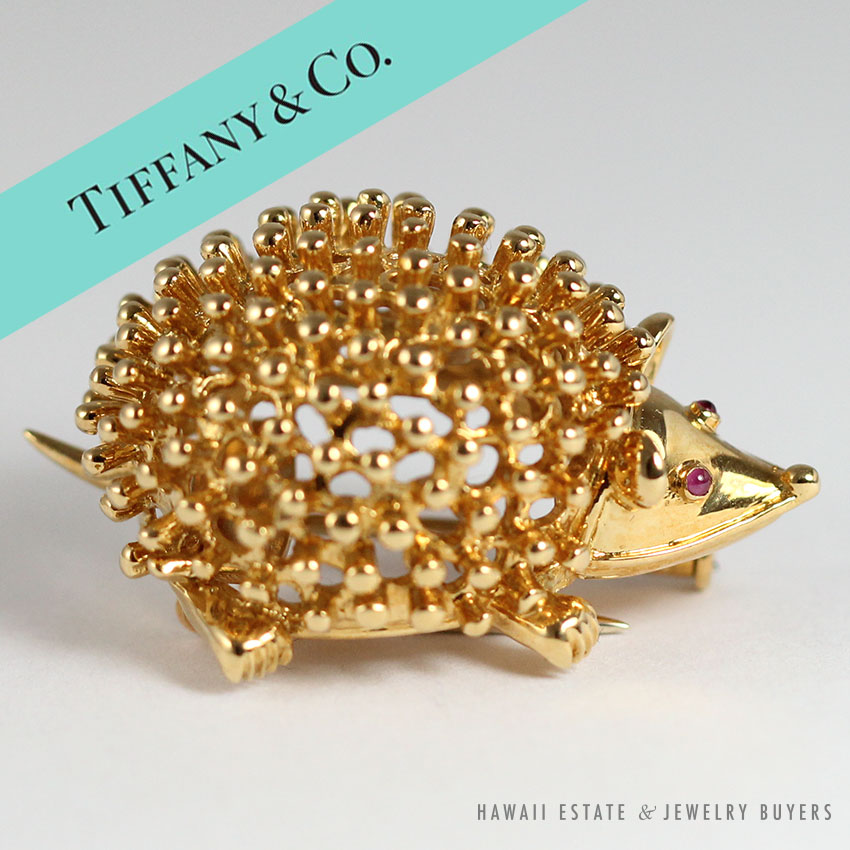 antique jewelry vintage lapel pin golden rhinestone brooch with orange pin gift for women
