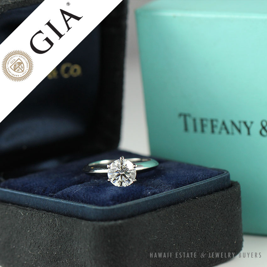 Tiffany Co 1 05ct Vvs2 I Natural Diamond Authentic Platinum Solitaire Ebay
