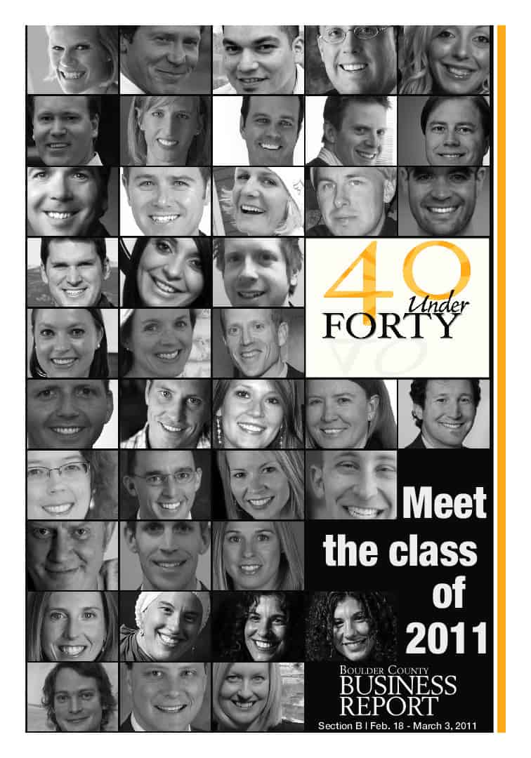 40 under Forty - 2011 - Boulder Valley