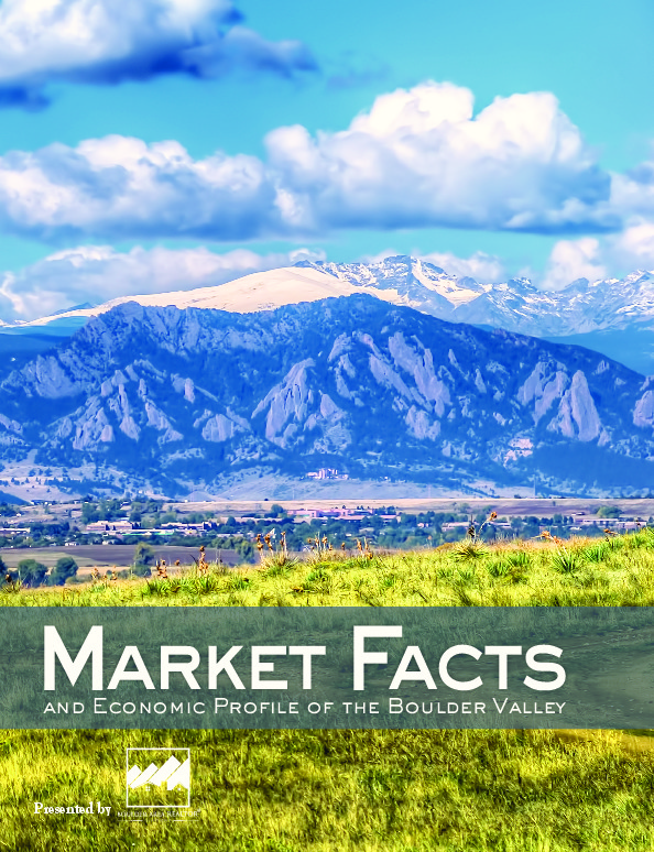 2016 Market Facts and Economic Profile of the Boulder Valley - presented by Boulder Area Realtors Association