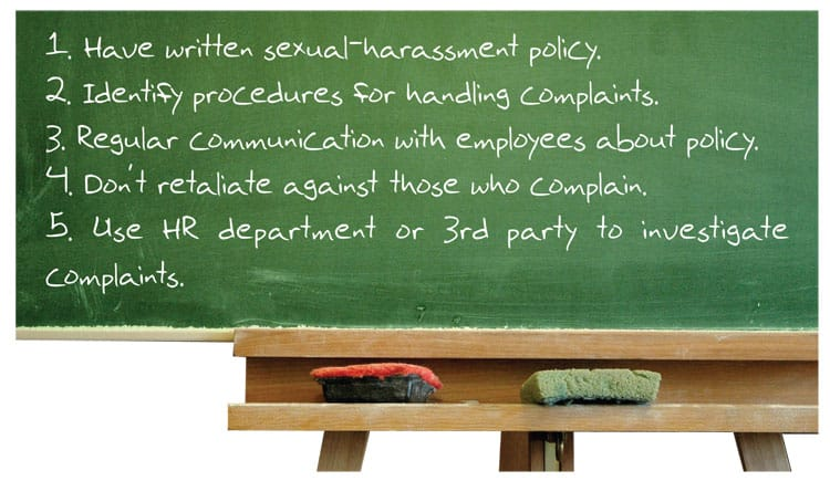 Education and training on sexual harassment