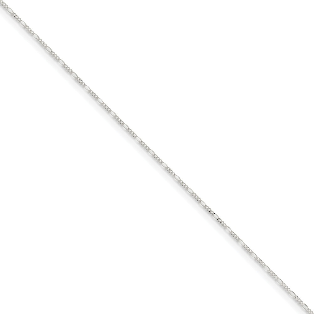 Sterling Silver 1.5mm Solid Figaro Chain Anklet, 9 Inch