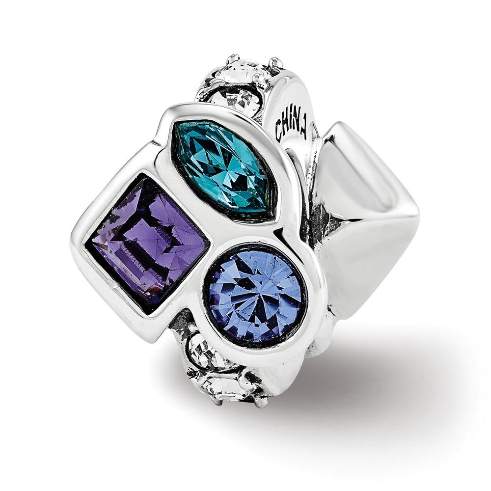Swarovski   Sterling   Crystal   Silver   Charm   Bead