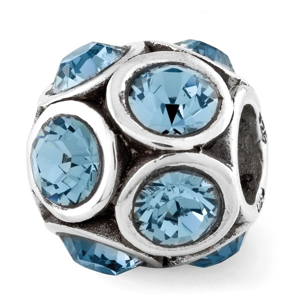 Swarovski | Sterling | Crystal | Bubble | Silver | Charm | Bead | Blue