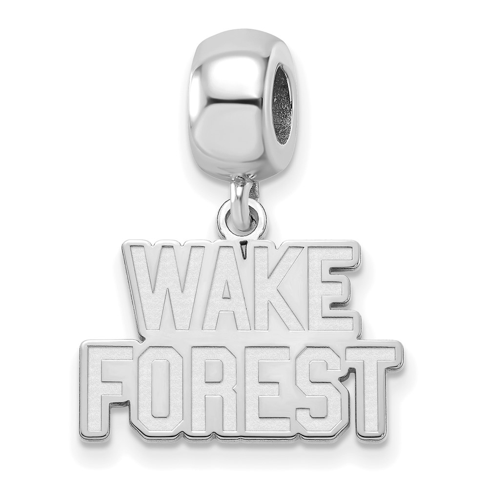 University | Sterling | Forest | Dangle | Silver | Charm | Small | Wake | Bead | NCAA