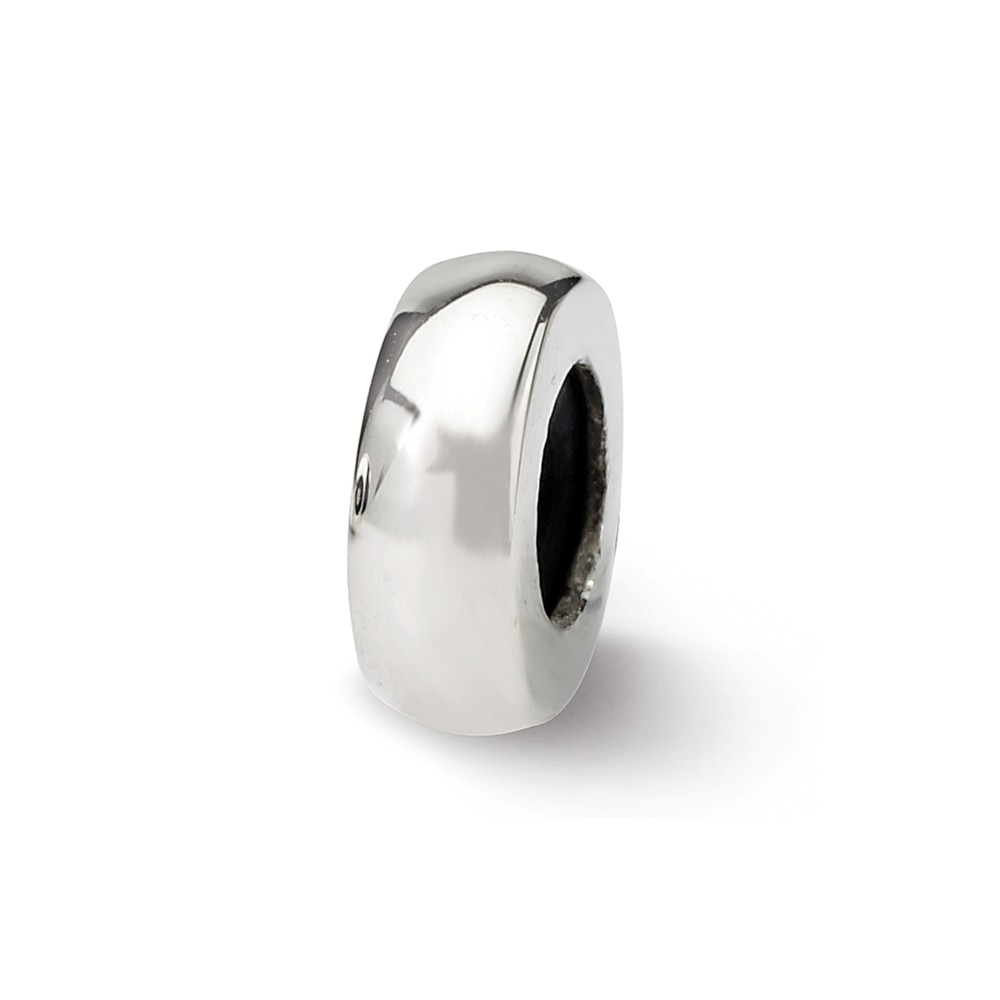 Sterling Silver Polished Stopper and Spacer Bead Charm