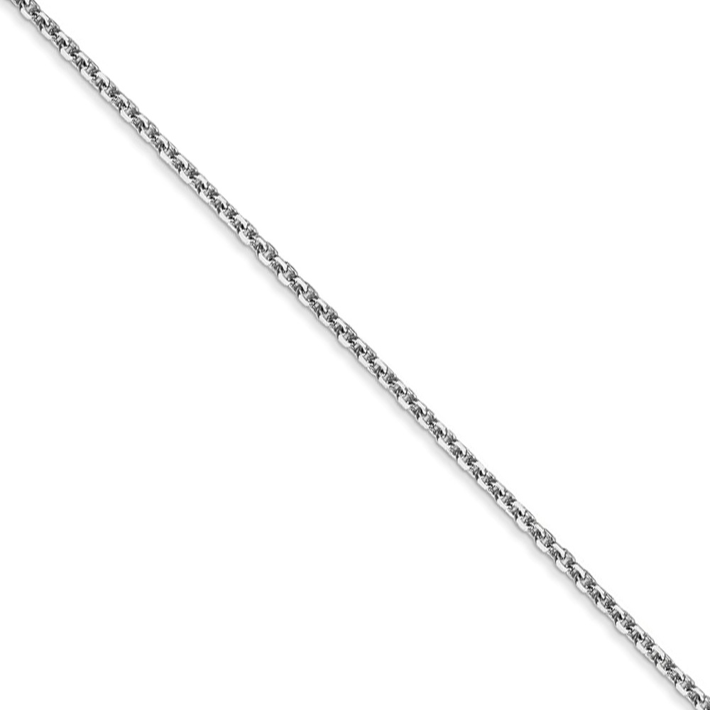 Children's 1.4mm, 14k White Gold, D/c Cable Chain Necklace, 14 Inch