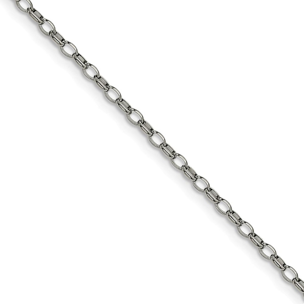 3.2mm Stainless Steel Open Cable Chain Necklace, 24 Inch