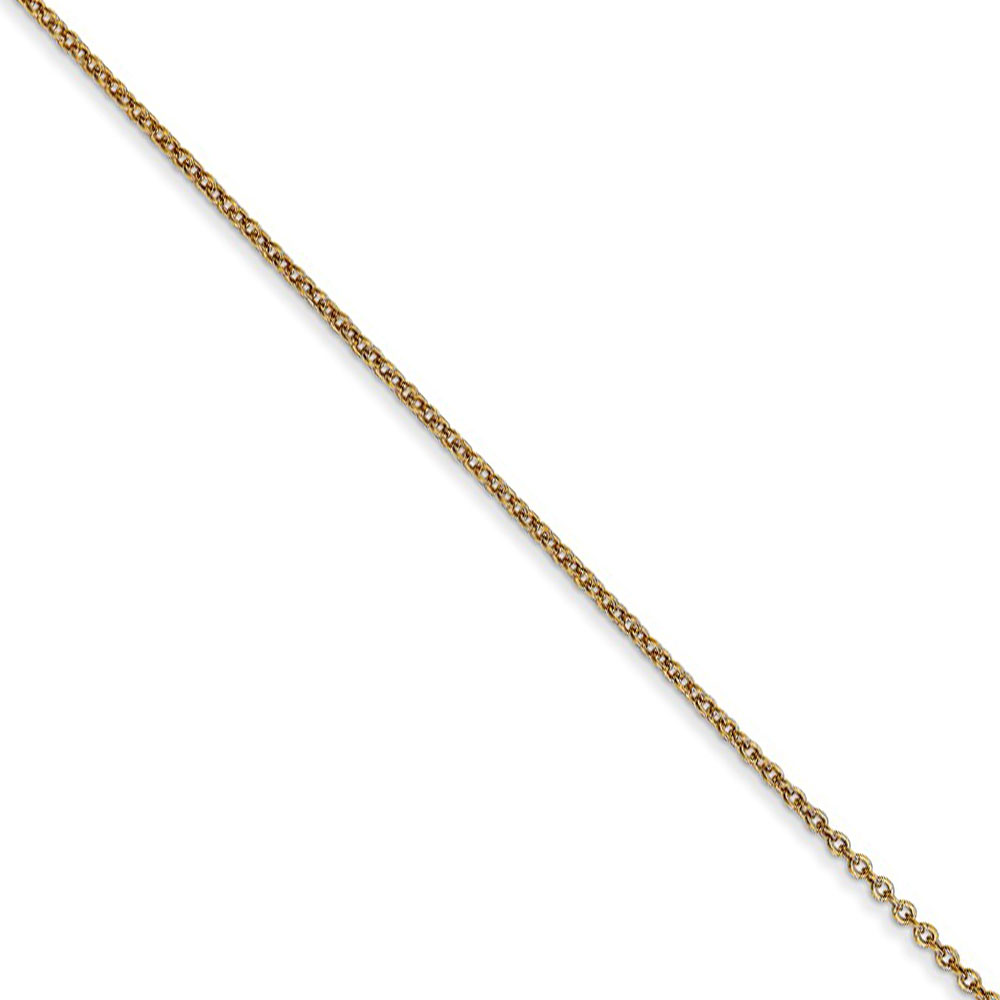 0.9mm 14k Yellow Gold Classic Cable Chain Necklace, 18 Inch