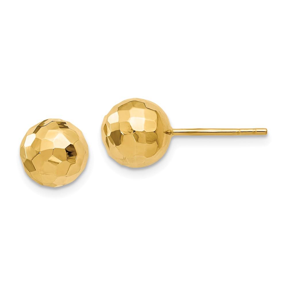 Earring | Polish | Yellow | Post | Ball | Gold