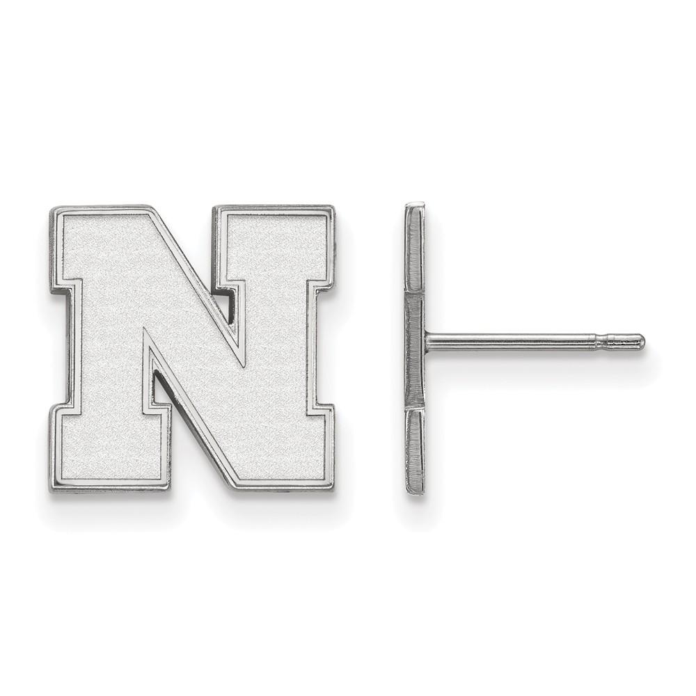 University | Nebraska | Earring | Small | White | Post | NCAA | Gold