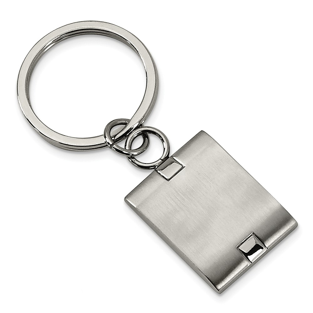 Men's Stainless Steel Brushed and Polished Key Chain