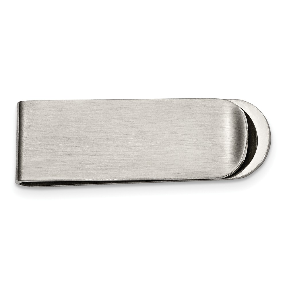 Men's Stainless Steel Brushed Money Clip