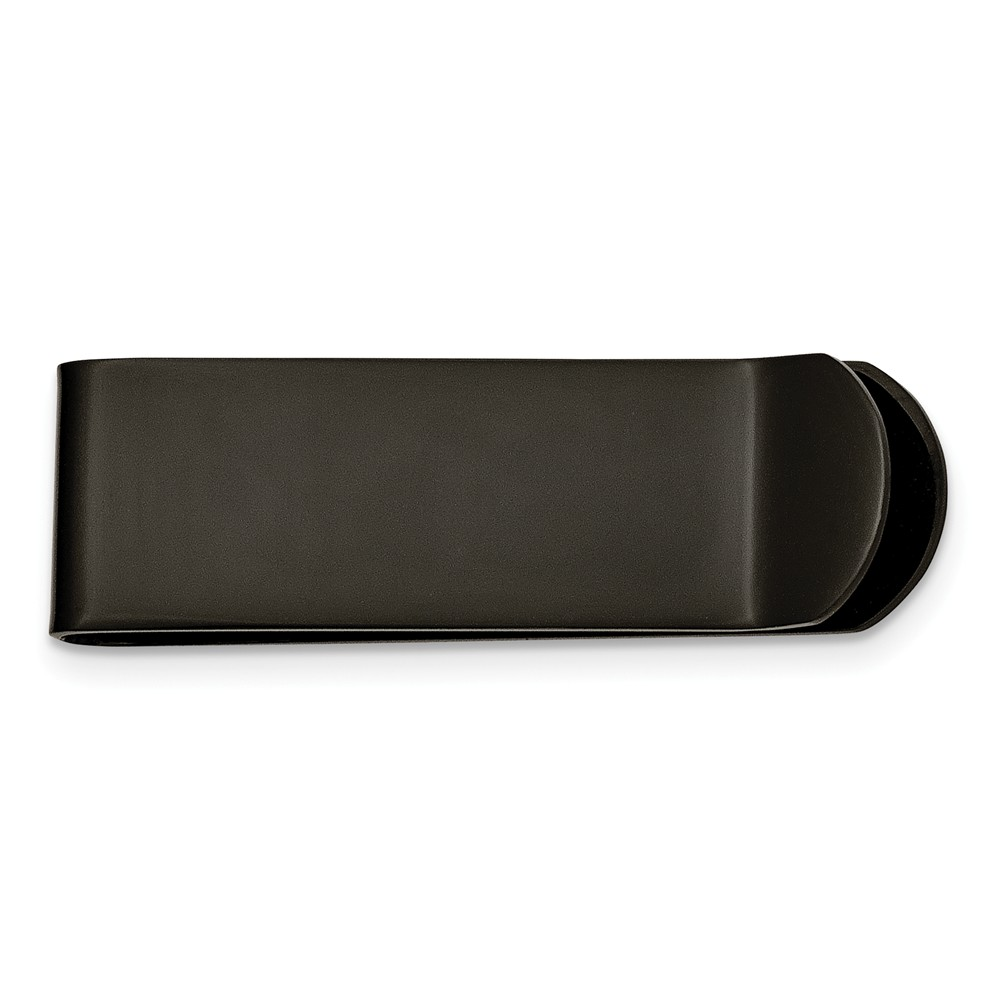 Men's Stainless Steel Black-plated Money Clip