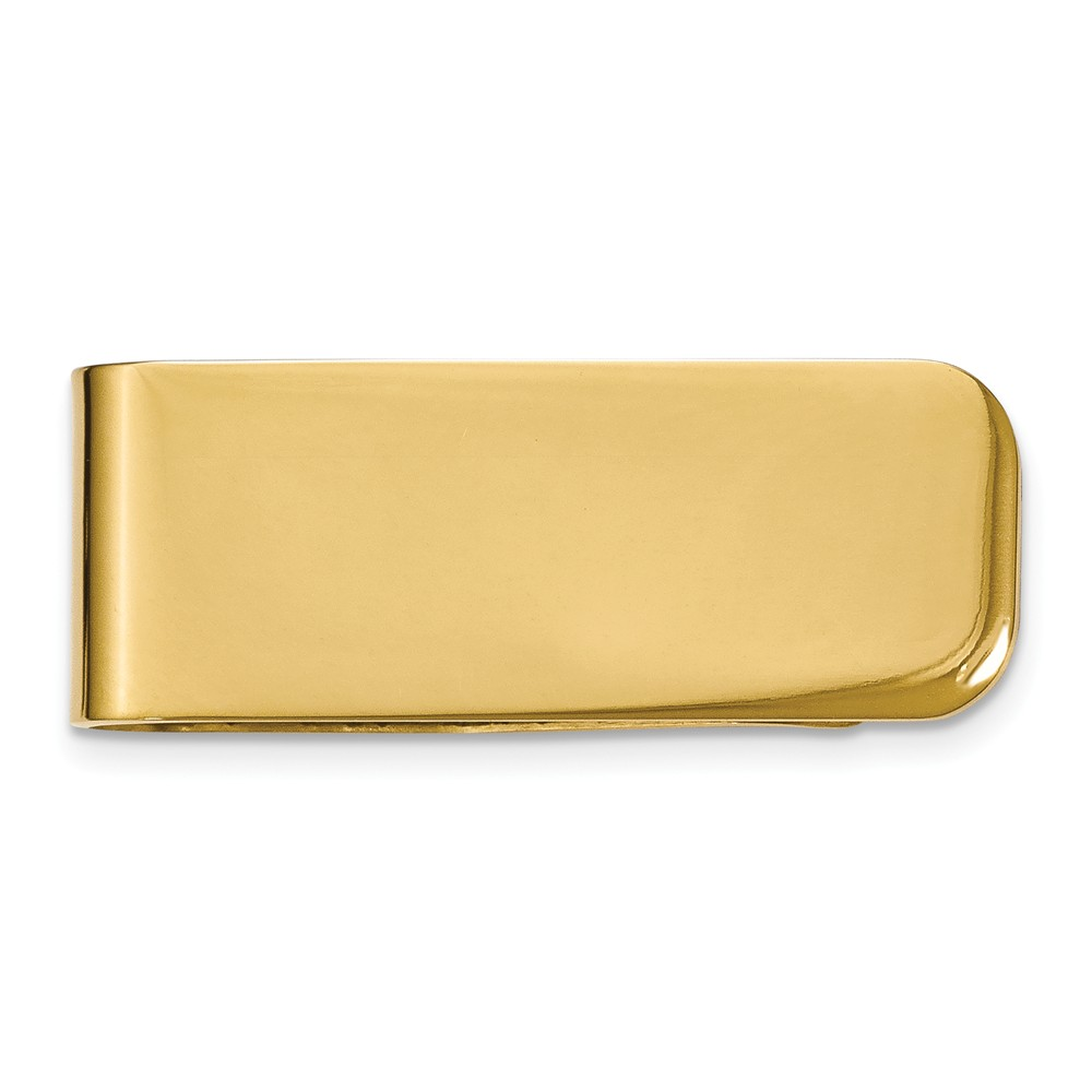 Men's Stainless Steel Gold Tone Plated Money Clip