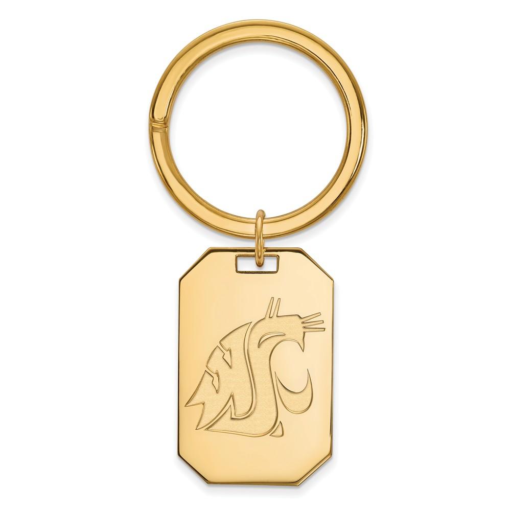 NCAA 14k Gold Plated Silver Washington State Logo Key Chain